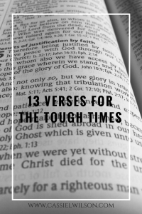 13 verses for the tough times