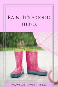 Rain. It's a good thing.
