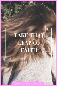 Take that leap of faith. (1)