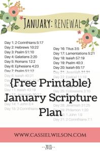 Free Printable January Scripture Plan