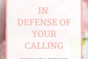 In Defense of Your Calling