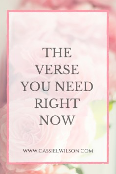 The Verse You Need Right Now | Cassie L. Wilson- learning to be the light
