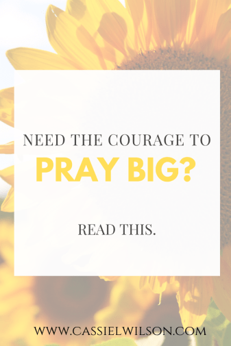 Need the courage to pray big? Read this. | Cassie L. Wison - learning to be the light