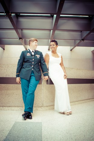 Cassie and her wife Amber: Photograph by Shawnee Custalow