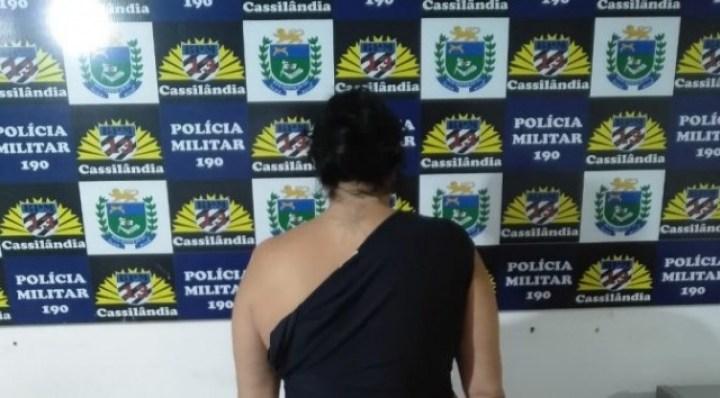 Polícia Militar prende mulher por roubo em Cassilândia