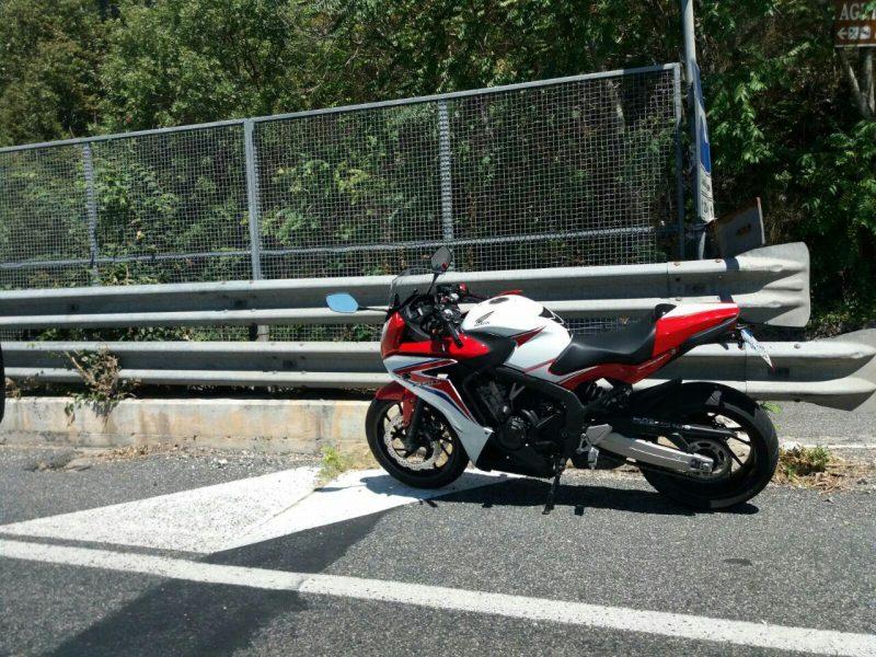 Moto coinvolta nell'incidente tra Belmonte e Atina