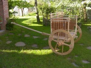 Ricostruzione di carro caucasico per prova ruote di Mercurago