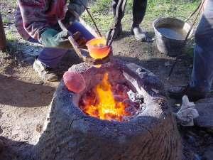 Fornace di fusione del bronzo - archeologia sperimentale