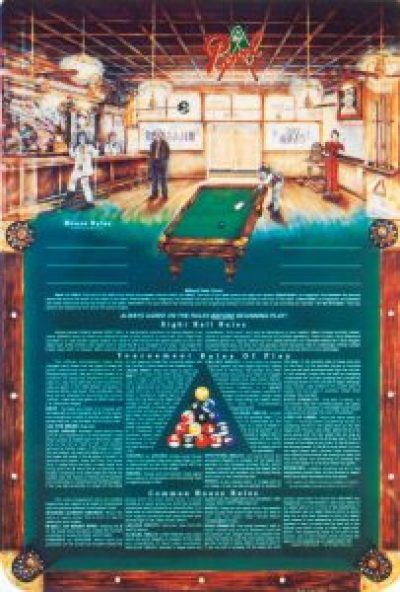 "The Rules of Eight-Ball Poster™ 24""x36"" ©1993"
