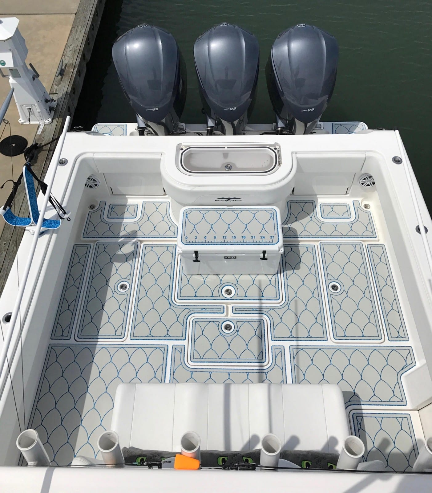 Castaway Customs Invincible Center Console Custom SeaDek Marine Flooring