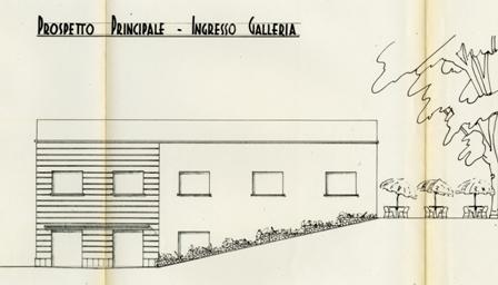 foto 21 prospetto sud nord che evidenzia la galleria e il terrazzo esterno