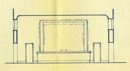 foto 3 prospetto del palcoscenico nel primo progetto di restauro