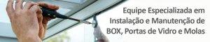 manutenção e instalação de box