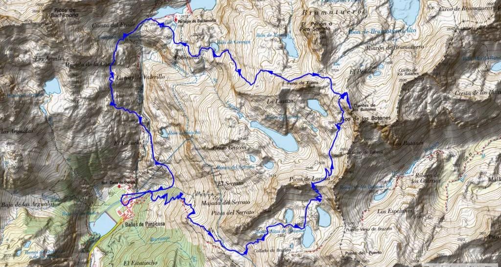 mapa-travesia-balneario-panticosa Casteret Guías de montaña