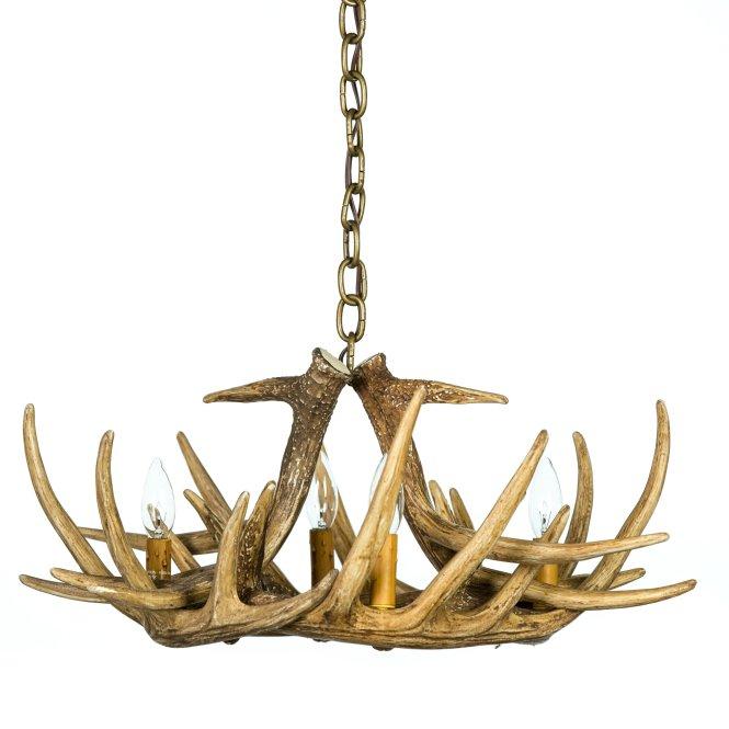 Whitetail Deer 6 Antler Chandelier