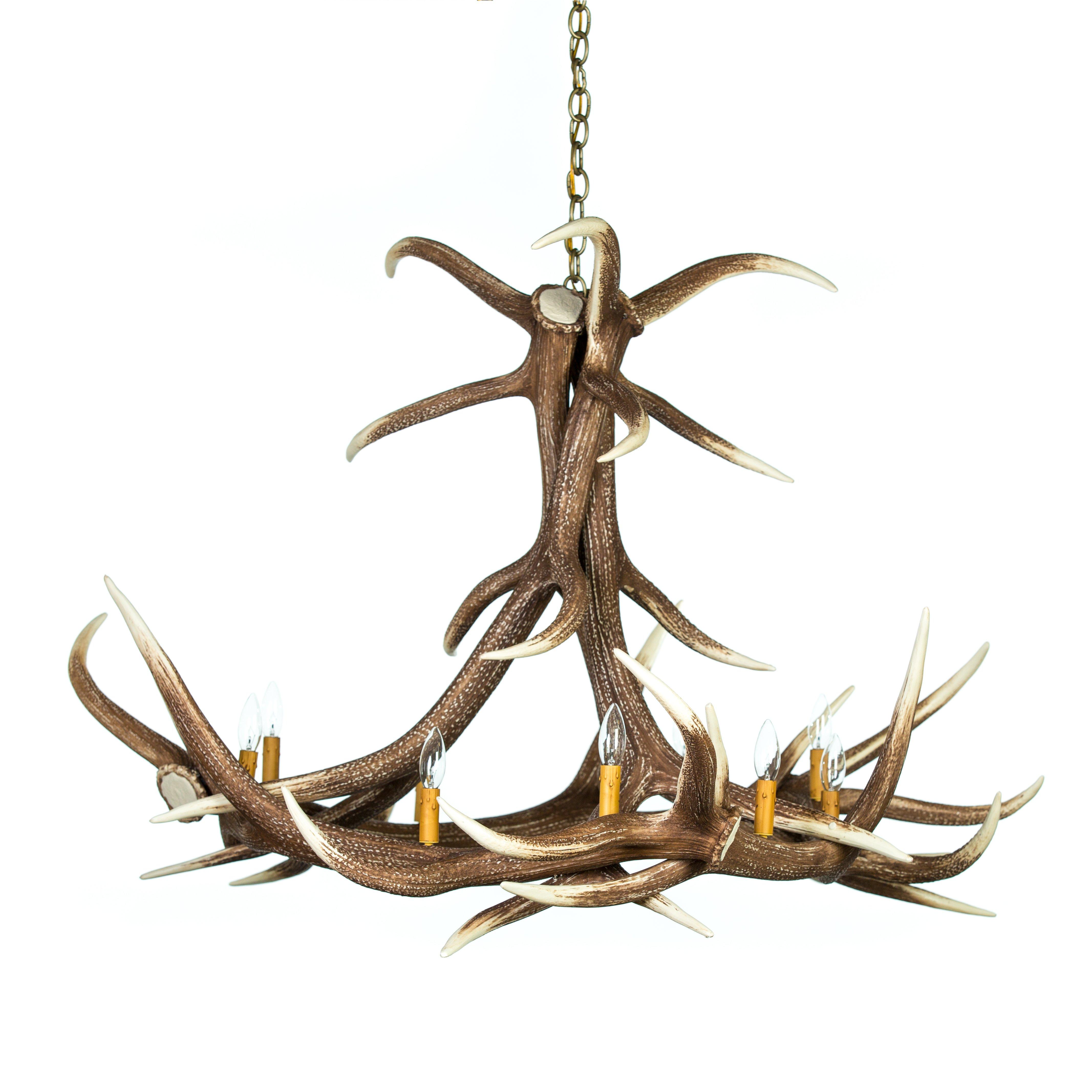 Elk 6 Antler Chandelier Cast Horn Designs
