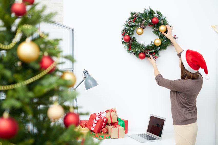 toque navideño a la oficina