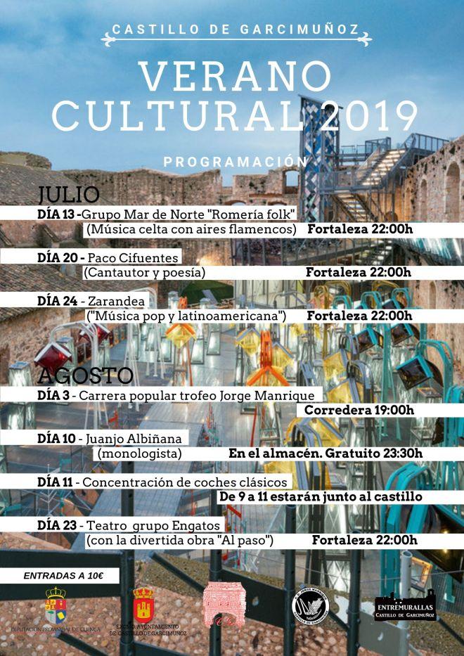 Verano cultural castillo de garcimuñoz 2019