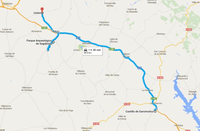 Segobriga y Ucles @googlemaps