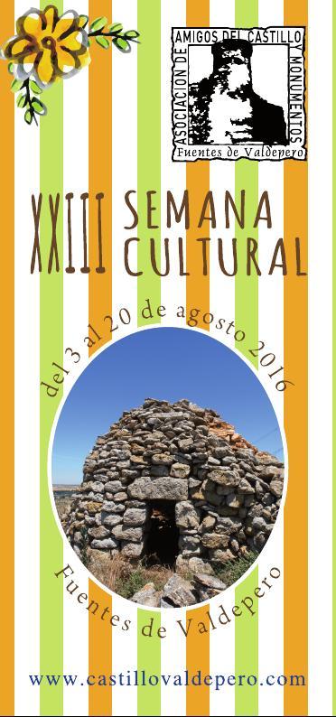 XXIII Semana cultural programa