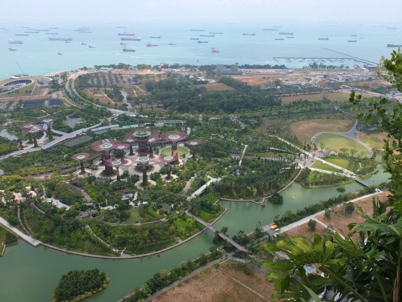 Marina Bay Sands Singapour - vue Garden by the Bay 57e