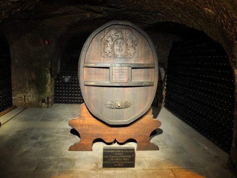 Champagne Moet & Chandon : visite de la cave