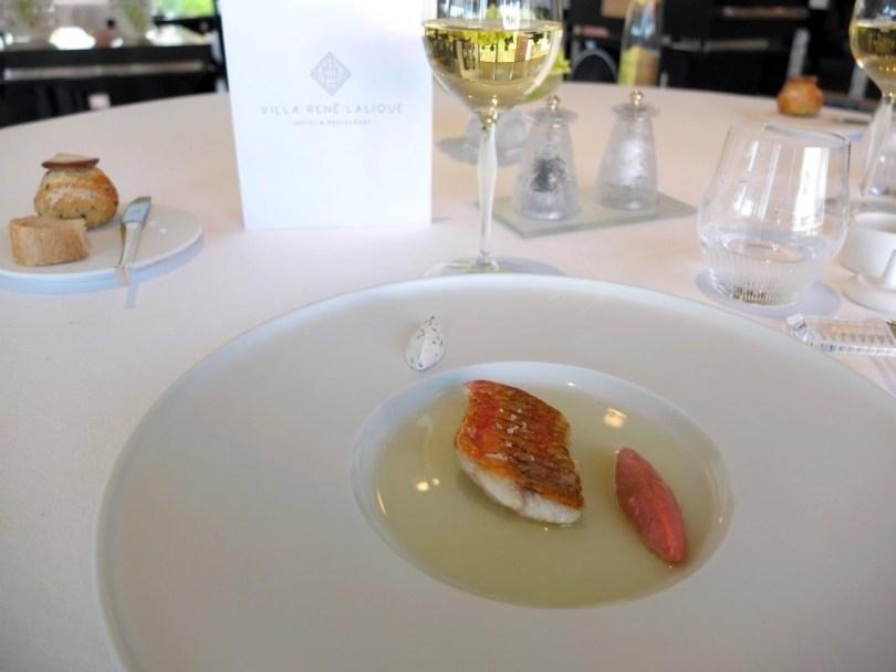 Restaurant Villa Rene Lalique - Rouget
