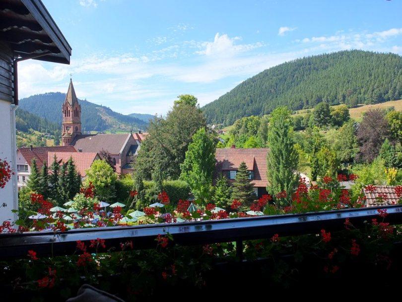 Hotel Bareiss Schwarzwald - vue du Balcon