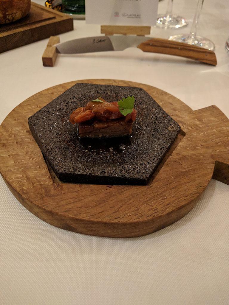 chateau de berne - restaurant de Benjamin - mise en bouche