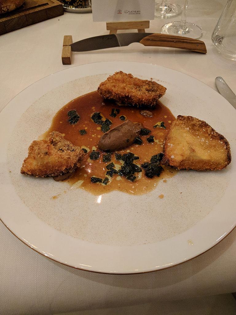 chateau de berne - restaurant de Benjamin - cèpes