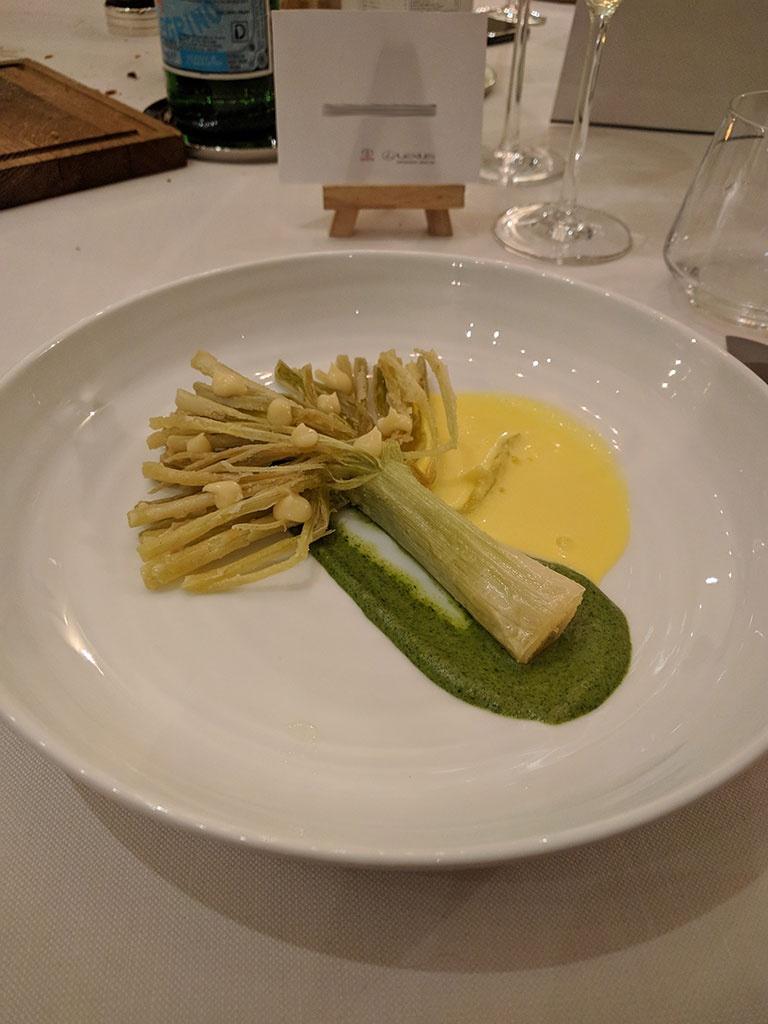 chateau de berne - restaurant de Benjamin - poireau