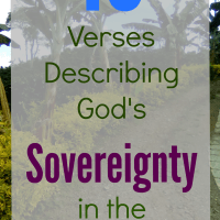 10 Verses describing God's sovereignty