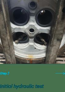 Initial Hydraulic Testing for Cylinder Head Marine Welding