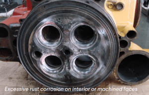 Rust Corrosion Machined Faces Mak Caterpillar Cylinder Heard Cast Iron Welding Repairs