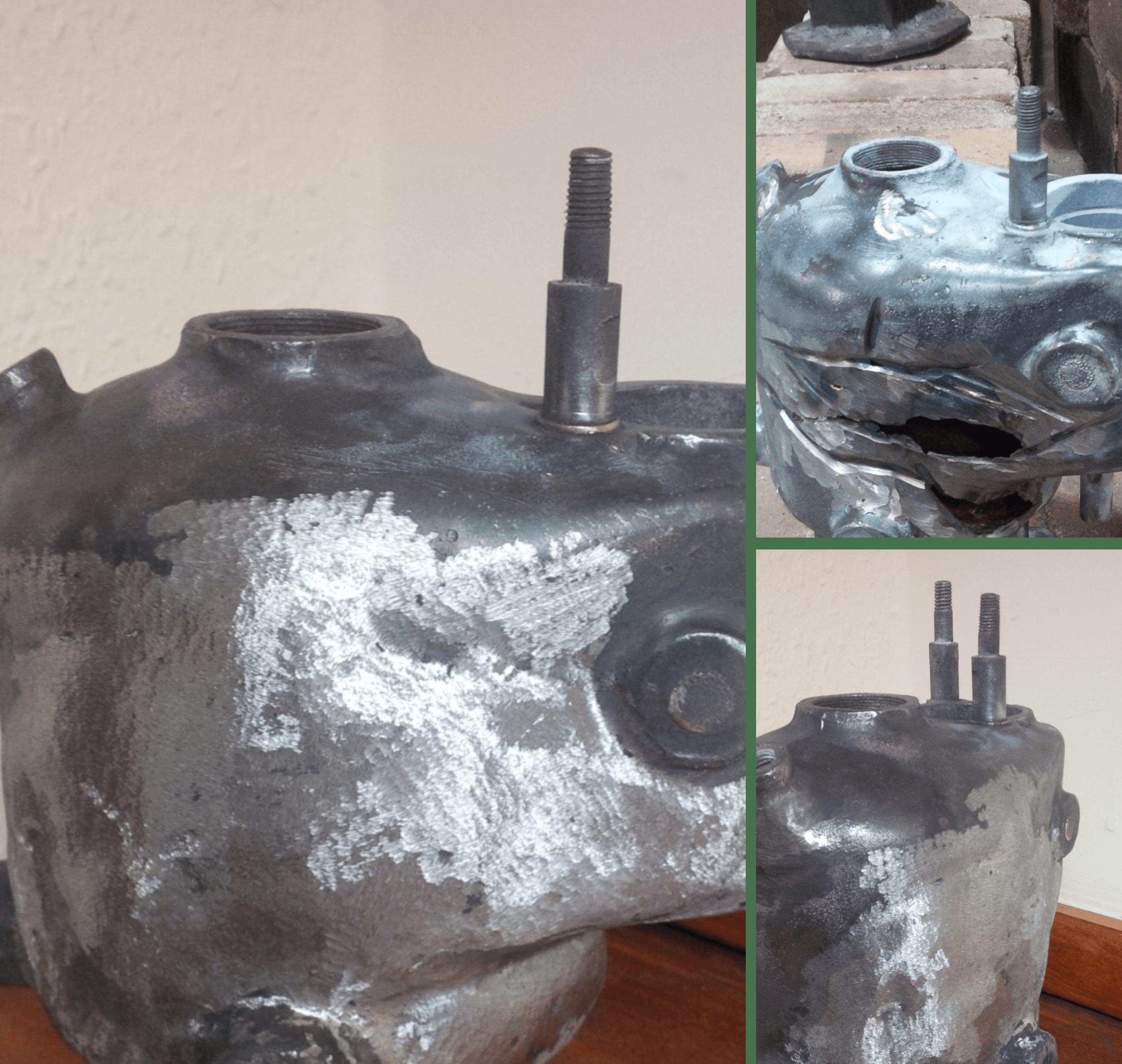 Vintage classic car cast iron welding repairs