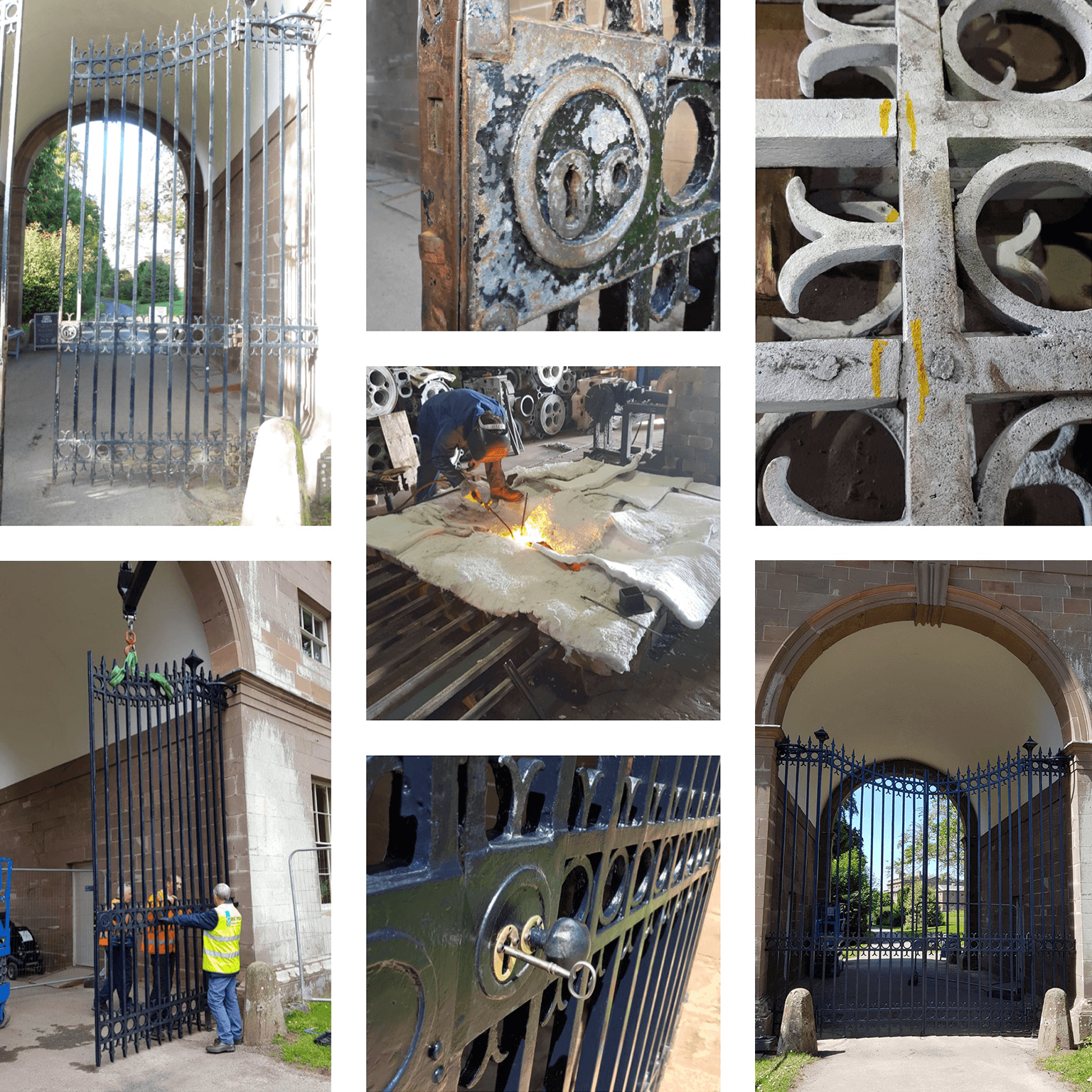 Wrought Cast Iron Gate Repairs on Stately Home