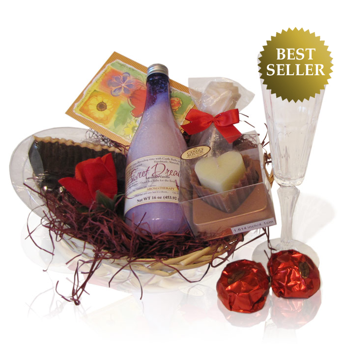 Pampering Spa Gift Basket Scented Oil Candle Soap Amp Cream