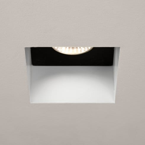 astro 1248005 trimless mains fire rated recessed downlight in white finish