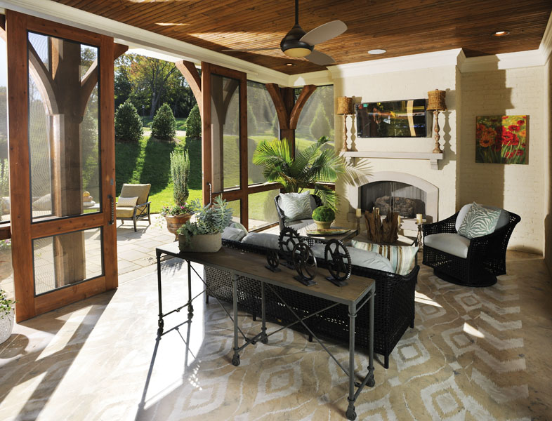 The Art Of The Perfect Porch | Castle Custom Homes | Home ... on Southern Outdoor Living id=44611