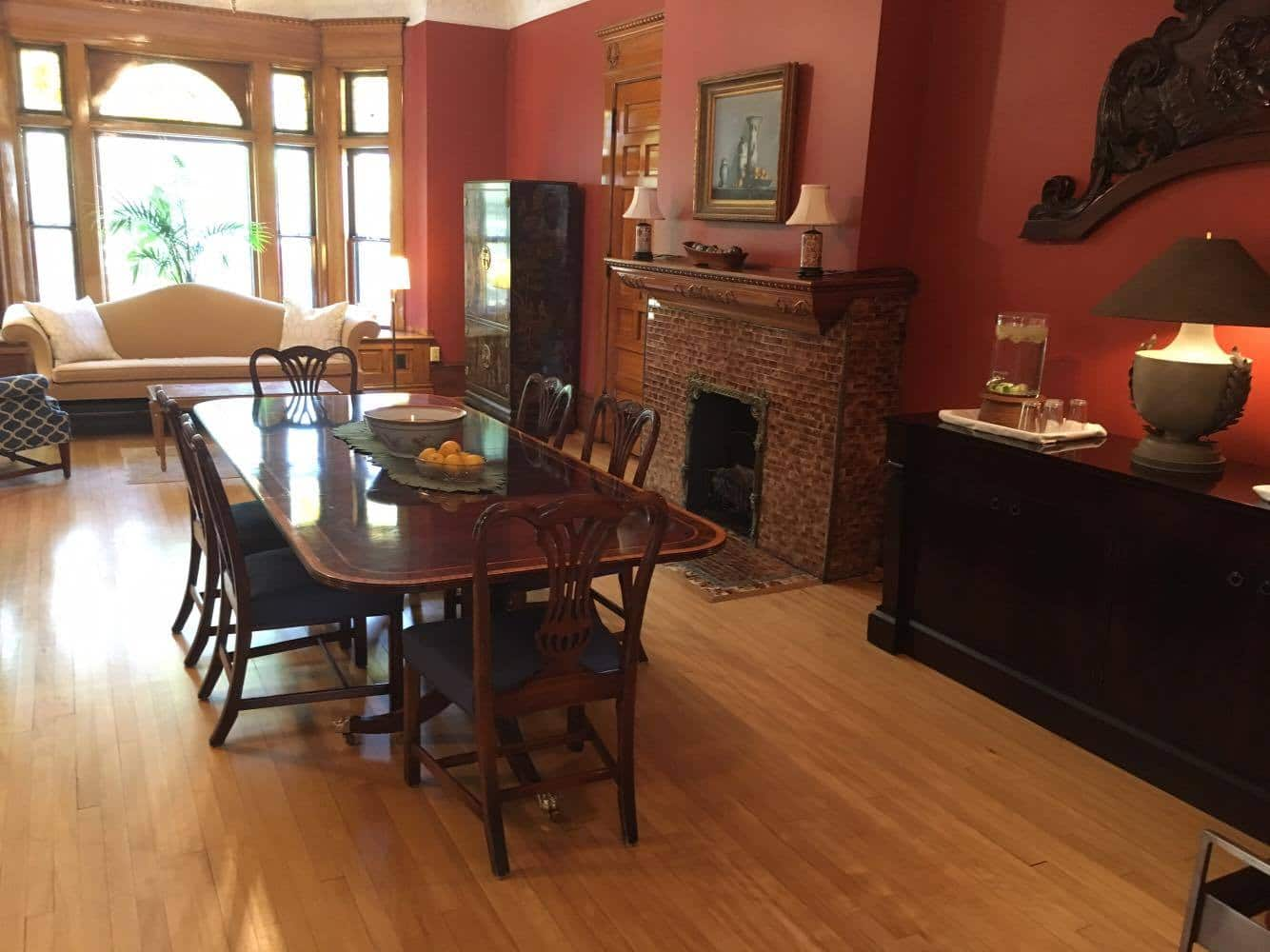 The Breakfast Room of Castle La Crosse Bed and Breakfast. Join Us!