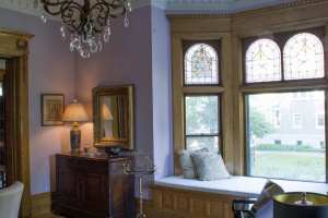 Window Seating Makes the Music Room Magical at Castle La Crosse B&B