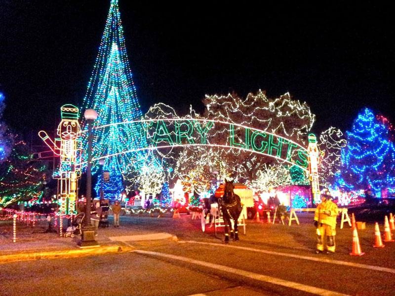 See the Rotary Lights Display at Riverside Park and enjoy the Christmas Season!