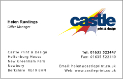 How To Design A Business Card Castle Print Design - Uk business card template