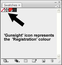 How to design a business card Gunsight icon