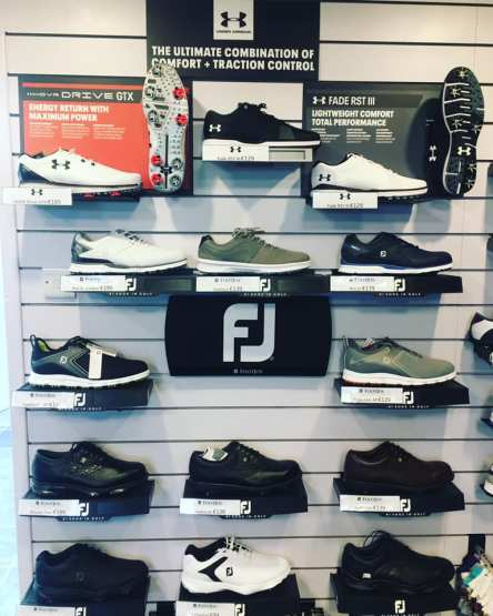 pro shop shoe wall