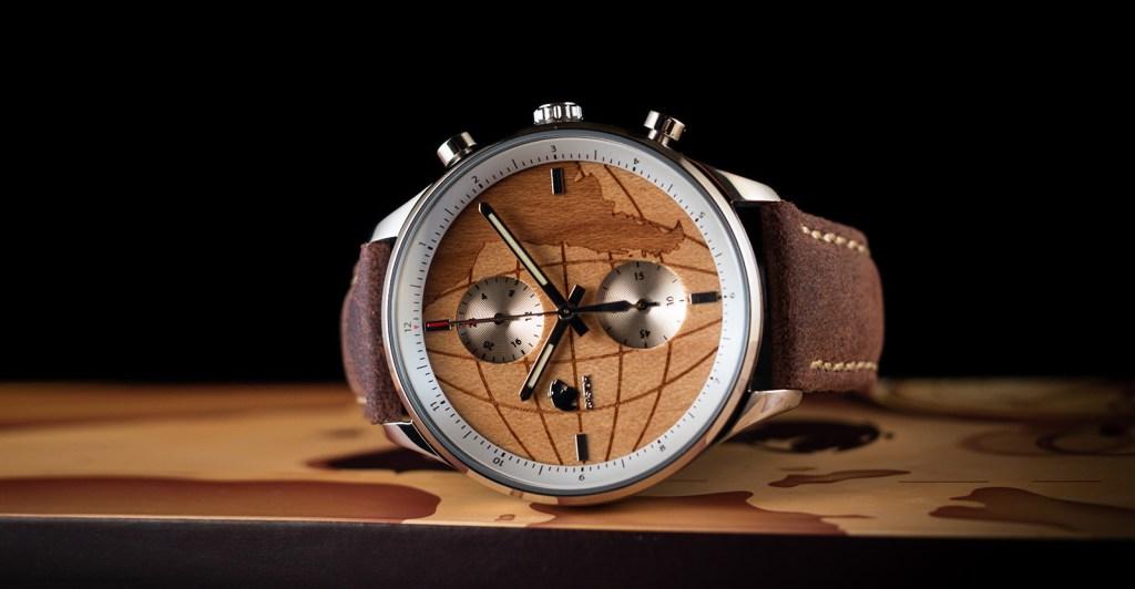 Relojes de madera Castor Viajero