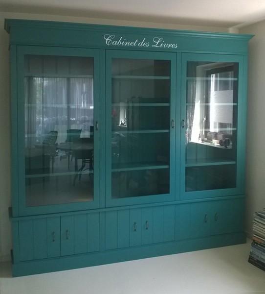 Keukenkast deur fineer steigerhout koel zwarte boekenkast met