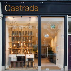 Castrads Chelsea Cross showroom viewed from Fulham Road.