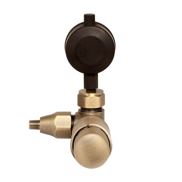 Brass thermostatic valve for one-pipe steam radiators