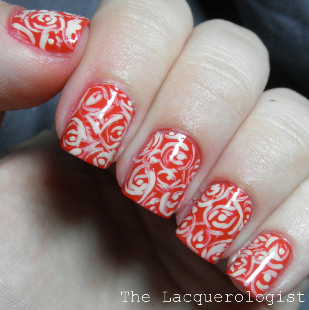 Whimsy roses featuring coca cola by opi casual contrast i have been daydreaming about wearing a sexy coca cola red mani for days now and when i finally put it on i had to add some nail art lets take a look prinsesfo Gallery
